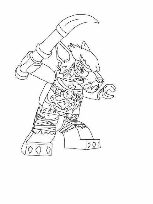 9 best lego coloring images on pinterest - Lego Chima Gorilla Coloring Pages