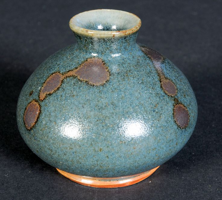 Bill Marshall Vase: This very small, perfectly formed vase is by Bill Marshall, a Leach inspired Cornish potter.