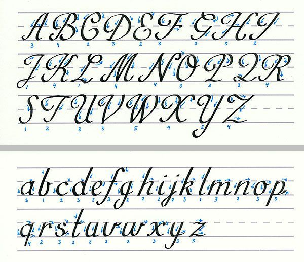 english roundhand script