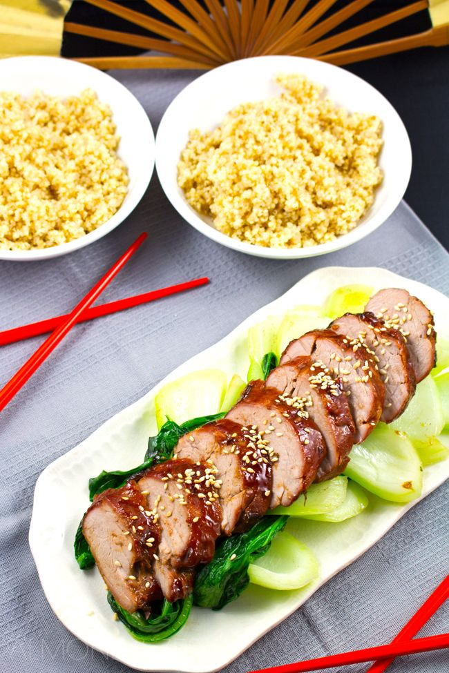 Thick, red, caramelized glaze coating tender & moist pork! Favorite Chinese dish!