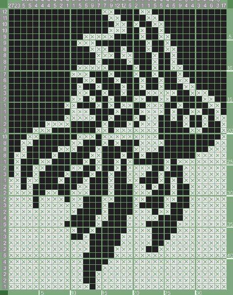 вышивка жаккардовое вязание Knitting Stitches Cross Stitch и