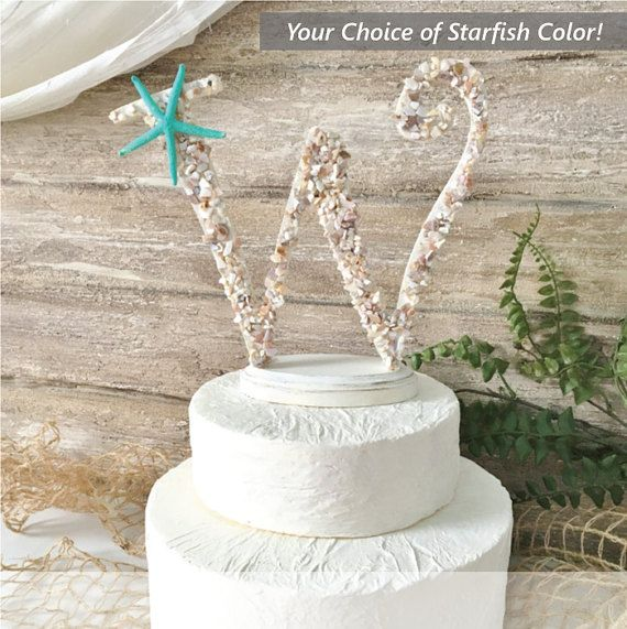 Hey, I found this really awesome Etsy listing at https://www.etsy.com/listing/478104000/beach-wedding-cake-topper-starfish-cake
