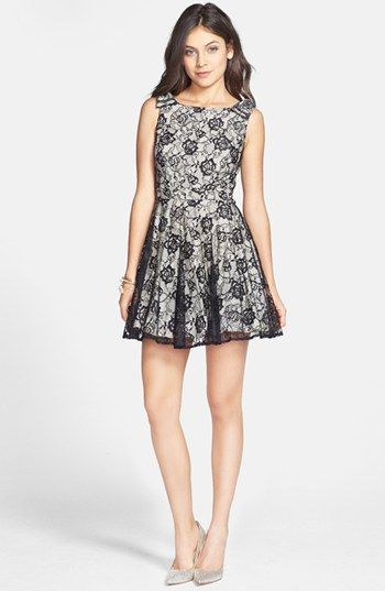 on sale now at Nordstom Rack! Way-In Lace Skater Dress (Juniors) available at #Nordstrom