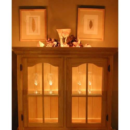 cabinet accent lighting. led tape lights accent the cabinets within and display above this cabinet while adding a lighting s