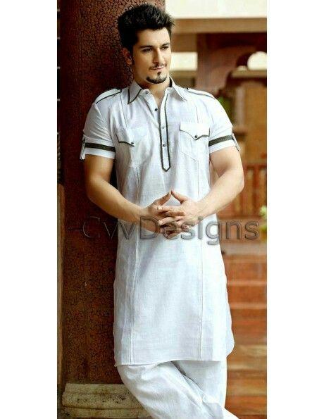 Linen Pathani suit ....www.cvvdesigns.com