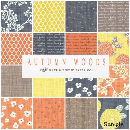 moda チャームパック Autumn Woods - パッチワークキルトと生地、キット、副資材のお店 Quilt furniture Qufu