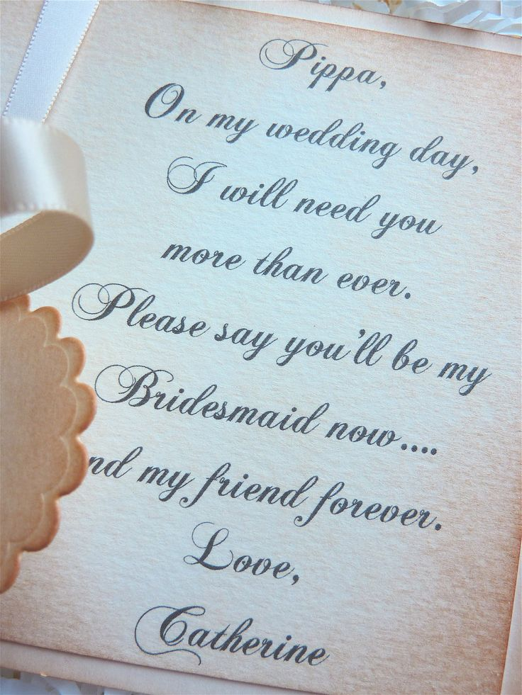 Will You Be My Bridesmaid Card*