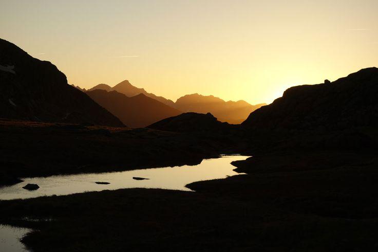 Sunset in the Turguilla valley, above Guzet-Neige, Ariège