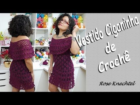 Vestido Ciganinha de Crochê - YouTube