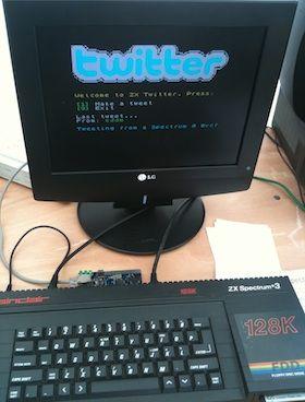 Twitter on a ZX Spectrum!