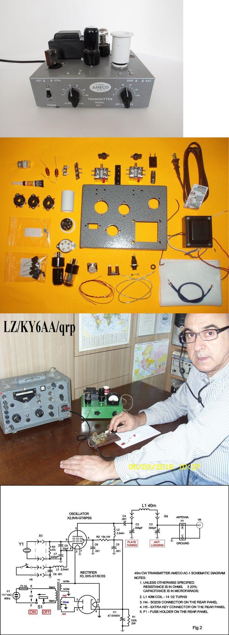 Ham Radio Transmitters: Ameco Ac-1 Transmitter Diy (Do It Yourself ) Replica Kit 40M Ham Radio Band -> BUY IT NOW ONLY: $188.81 on eBay!