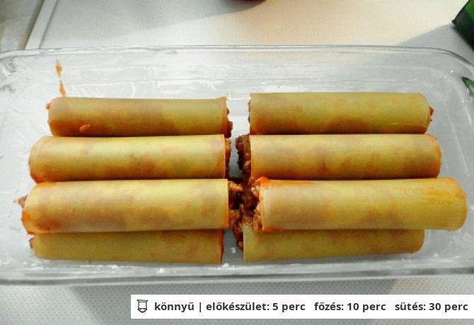 Darált húsos cannelloni
