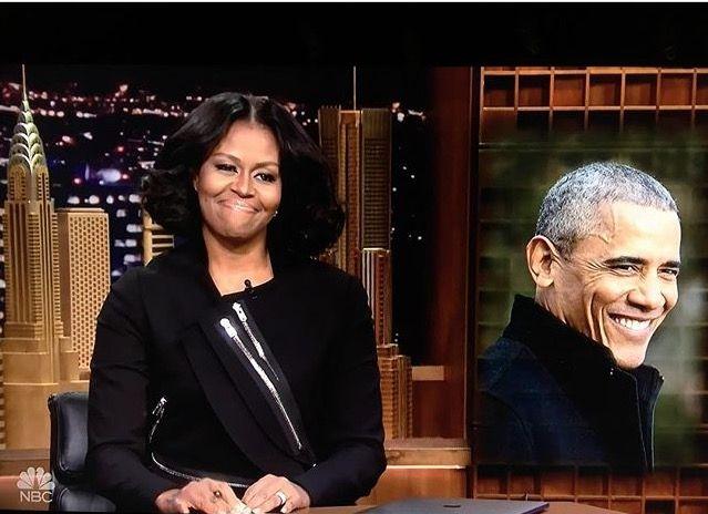 #ThankYou #Note To Her #Husband #44th #POTUS #President #CommanderInChief #BarackObama #FLOTUS #FirstLady #MichelleObama making her #FINAL #VISIT #FallonTonight #January11th #2017 #JerrySeinfeld #DaveChappelle #StevieWonder