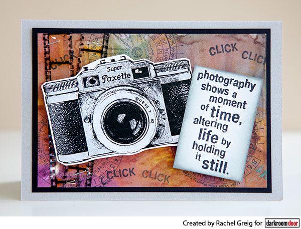 Card by Rachel Greig using Darkroom Door Camera Eclectic Stamp