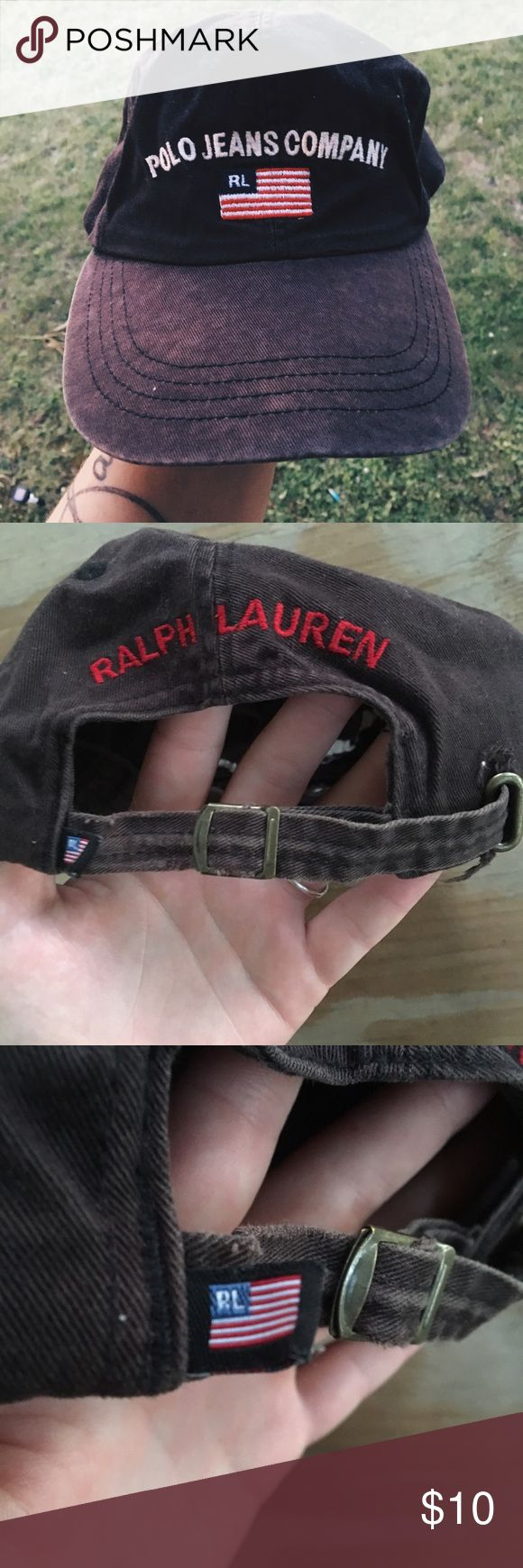 ❤️Vintage Polo Hat Special vintage Polo by Ralph Lauren distressed baseball cap type of hat. Some wear to It but definitely not enough to stop wearing it out or for your collection  Polo by Ralph Lauren Accessories Hats