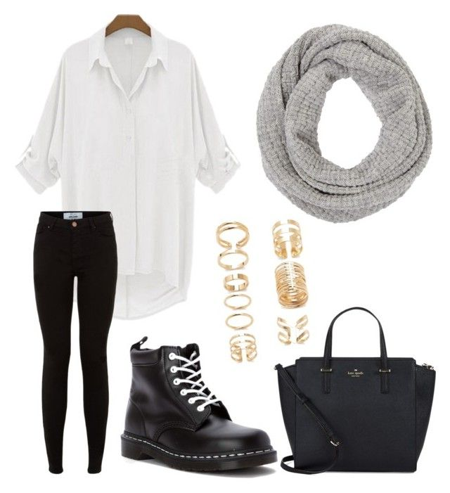 """don't let winter stop you from being fabulous."" by jasminehekekire on Polyvore featuring John Lewis, Dr. Martens, Kate Spade and Forever 21"