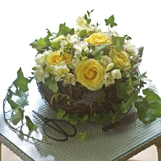 Choose your favourite seasonal flowers for a pretty springtime display.