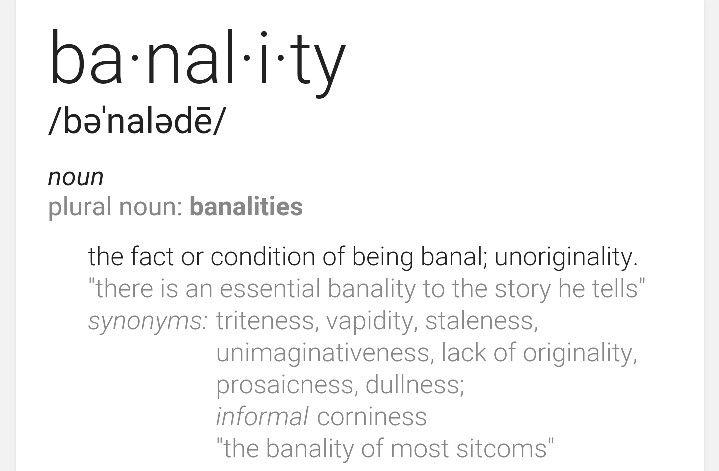 Banality