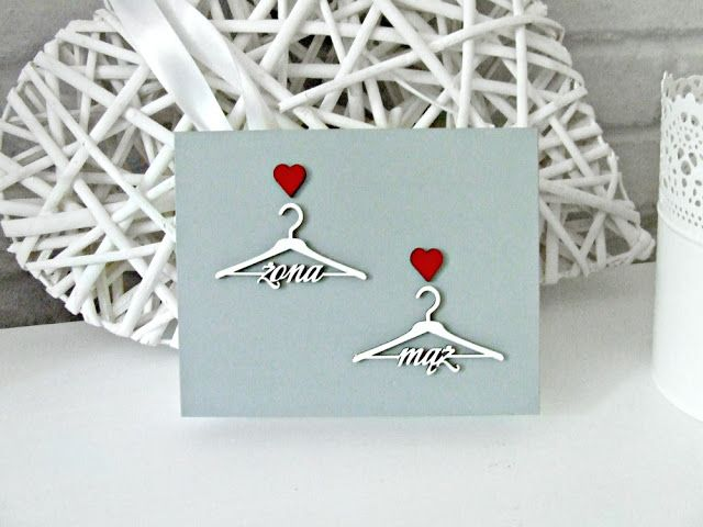 wedding ringbox  pudełko skrzyneczka na obrączki w szarym i białym kolorze z motywem wieszaczków. Ślubne pudełeczko by Eco Manufaktura.
