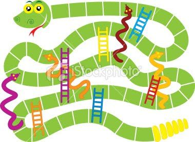 Snakes And Ladders Game Board Template more at Recipins.com | Projects ...