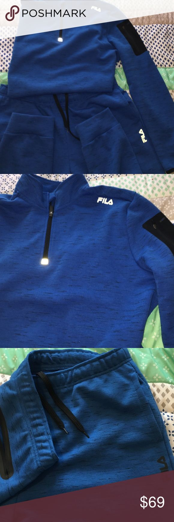 NWOT Royal Blue Fila Sport Jacket&Jogger Suit!!🔥 NWOT, just purchased yesterday and doesn't fit. Took tags off but never worn, never washed, wicked comfy, great look! Brand new item, in new line. Fila Pants Sweatpants & Joggers
