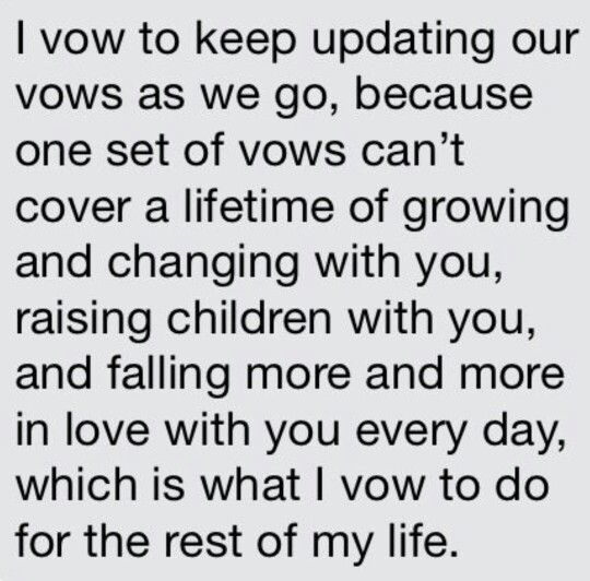"Wedding vows from TV Shows - ""I vow to keep updating our vows"" - Love quotes from How I Met Your Mother"