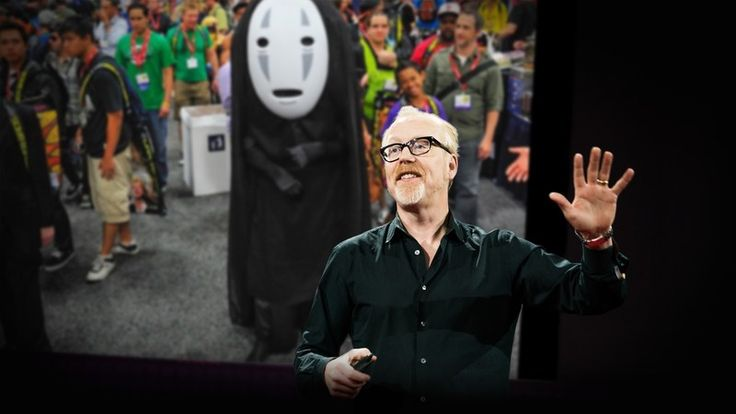 "❛Adam Savage❜ TED2016: My love letter to cosplay • ""Adam Savage makes things and builds experiments, and he uses costumes to add humor, color and clarity to the stories he tells. Tracing his lifelong love of costumes — from a childhood space helmet made of an ice cream tub to a No-Face costume he wore to Comic-Con — Savage explores the world of cosplay and the meaning it creates for its community. ""We're connecting with something important inside of us,' …"""