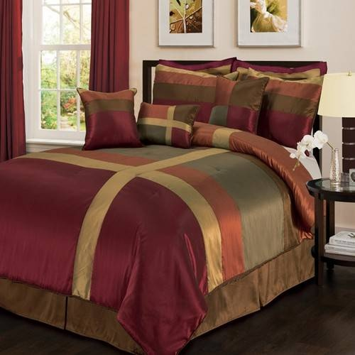 A Colorful Check And Striped Bedding Collections In Shades