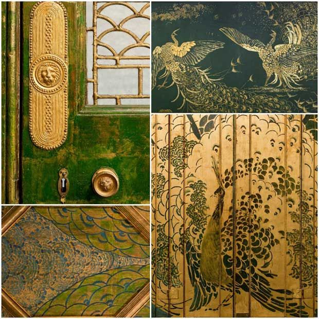 Paint and gold leaf decorative arts in The Peacock Room   Paint + Pattern