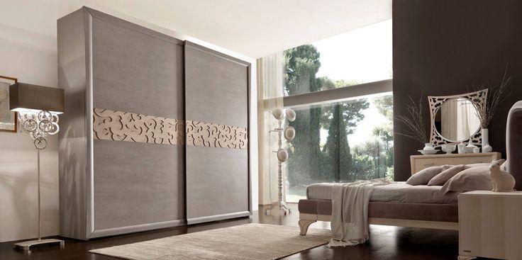 Armadio NoceArgilla traforo NoceNatura Portofino#Modo10 Made in Italy  100x100vero legno