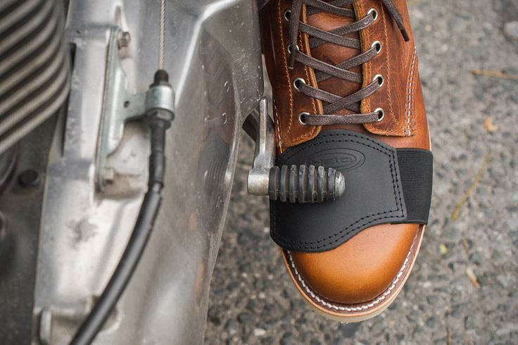 Shifter Boot Protector - I've ruined more than few pairs of boots and shoes... shoulda coulda woulda bought one of these! #motorcycles