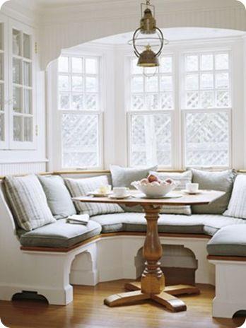 Nooks: Built In, Breakfast Nooks, Bench, Kitchens Tables, Kitchens Nooks, Breakfast Area, Nooks Ideas, Window Seats, Bays Window