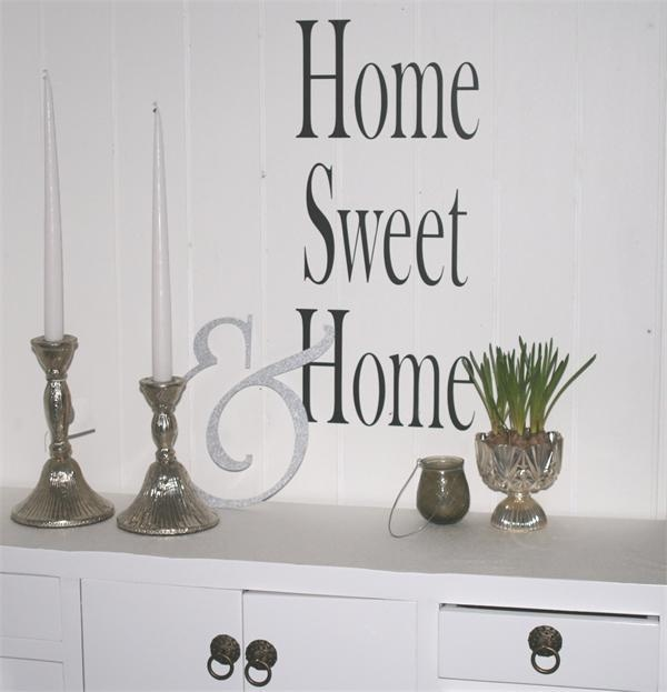 Wallstickers, home sweet home