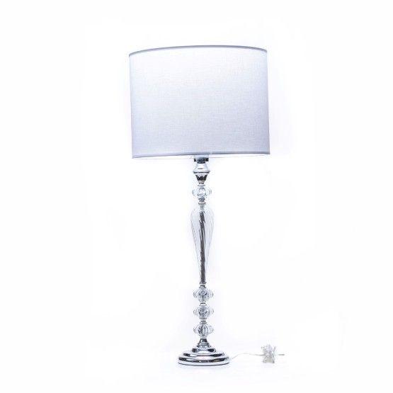 O Abajur Glass Luna deixa sua casa com a sensação de conforto e relaxamento. Pode estar em cima de uma mesa lateral, cômodas e aparadores, na sala ou quarto. #Abajur #LojaSoulHome
