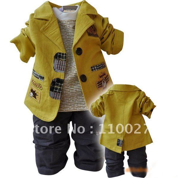 Cool Baby Boy Clothes   Wholesale Boys Clothing Sets Baby Wear Three Pieces Clothing Set ...