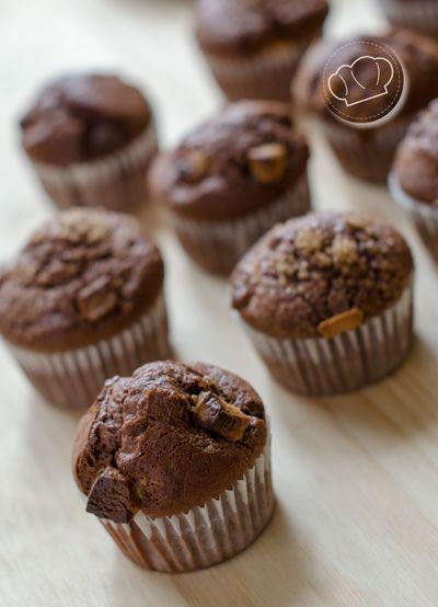 receta de Magdalenas de chocolate con trocitos de chocolate negro