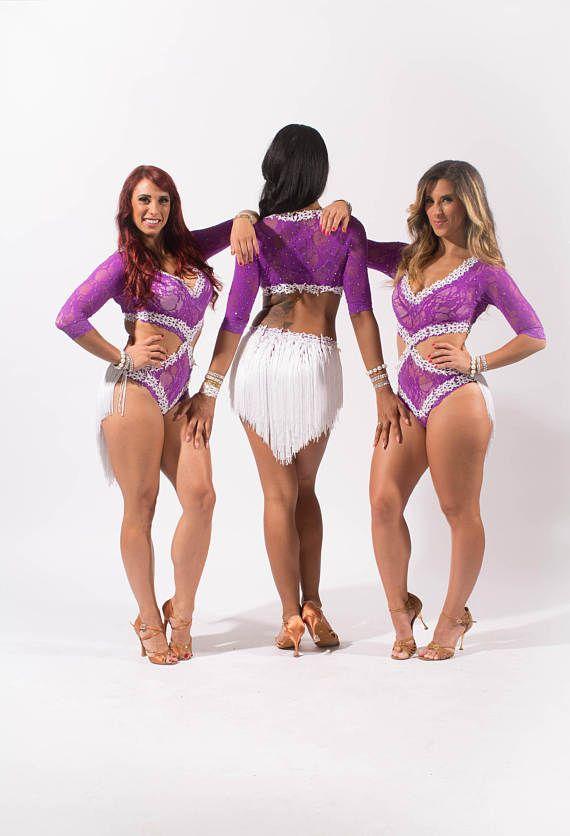 Salón de baile latino Salsa cordón vestido de traje de la