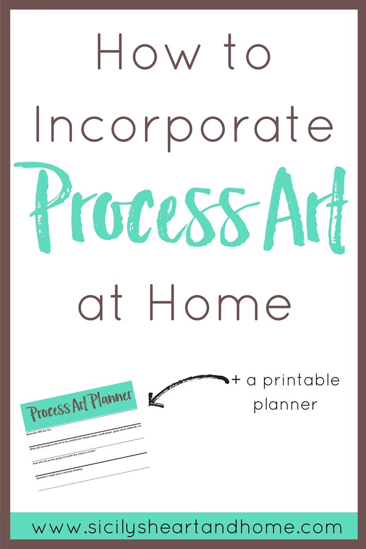 How to Incorporate Process Art at Home  Home preschool offers the opportunity for some messy process art opportunities. Children learn how to problem solve, be creative, and process the world around them through process art. Click through to learn how you can incorporate process art into your home preschool.
