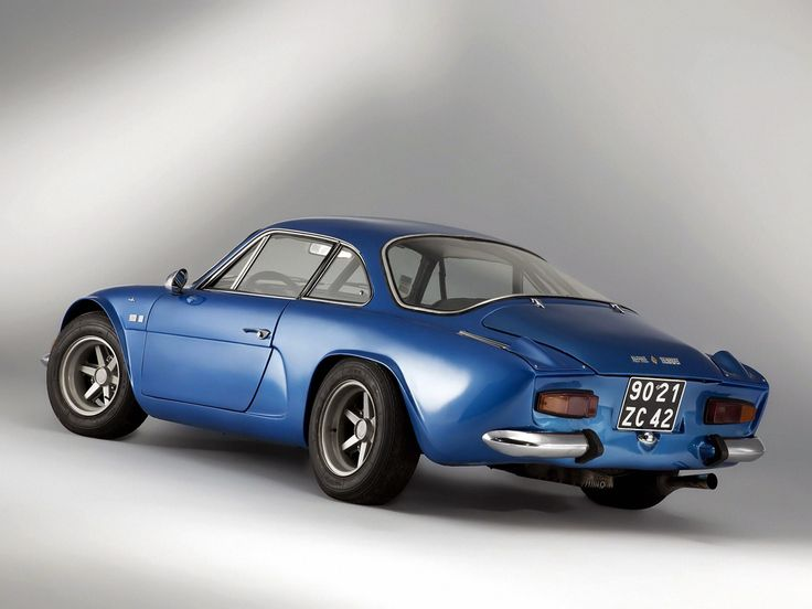 1961-77 Renault Alpine A110...I always liked these little French 'attitude-monsters', for their road stance alone...K