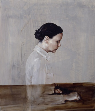 'One' by Michael Borremans (seen at Maison Particuliere, Brussels)