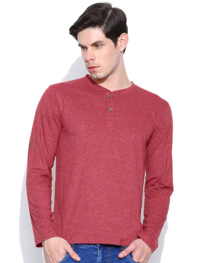 Dream of Glory Inc. Red Henley T-shirt