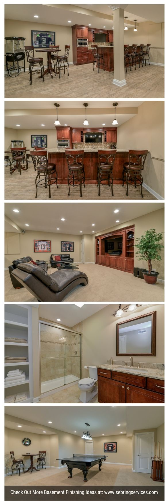 Finished basements are a large part of our business often featuring - Awesome Finished Basement Project Geneva Il