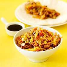 Moo Shu med tofu och grönsaker - Recept - Tasteline.com