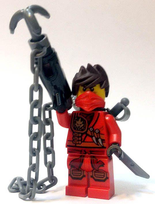 """Kai con arpione, dalla rivista """"Ninjago. Masters of Spinjitzu"""" (Panini Magazines). #Figures #Lego #Ninja #Ninjago"""