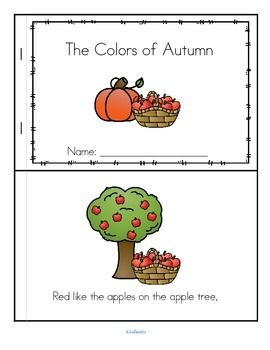 ***FREE***  Here is a whimsical poem about some colors seen in Fall / Autumn. I have included a color copy in reader format, a b/w copy in reader format, and the poem on one page, which can be illustrated by the children. Touches on fall colors, fall weather, concept of rhyme, and choral speaking with expression.