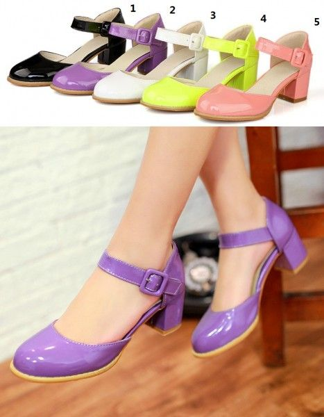 Gekleurd Enkelband Schoenen Met Lage Hak Maat 34 35-43 - Kleine maat damesschoenen laarzen pumps hakken 30 31 32 33 34 35 36 37 38 39 kleine maat schoenen
