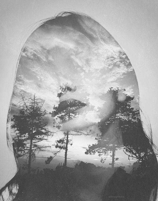 """human land"" #doubleexposure #photography #portrait #fineart #blackandwhite"