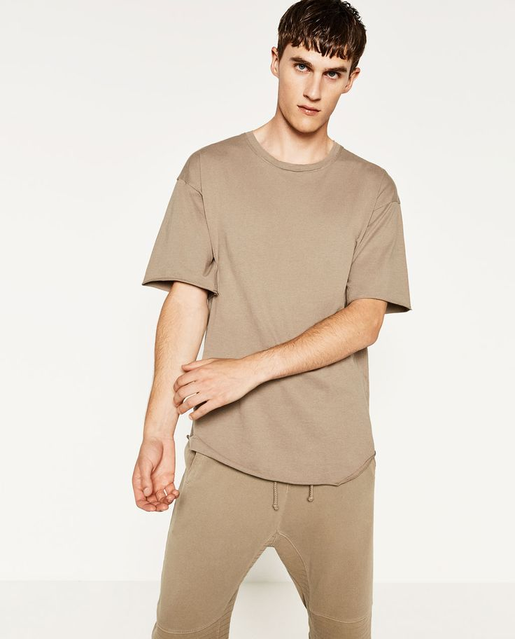 Image 1 of PIPED SEAM T-SHIRT from Zara
