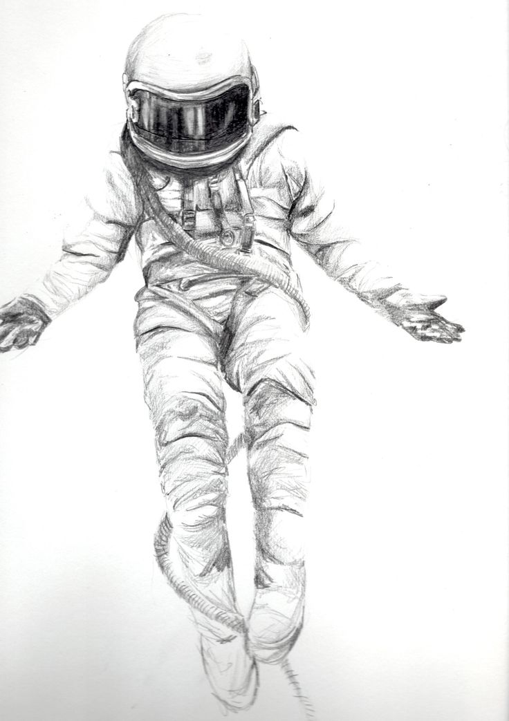 astronaut space drawing - photo #5