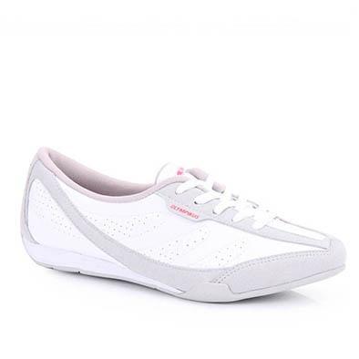 Adorei, é confortável e ficou muito bonito no pé! Tenis Feminino Olympikus Halos 867  - Cza/Bco